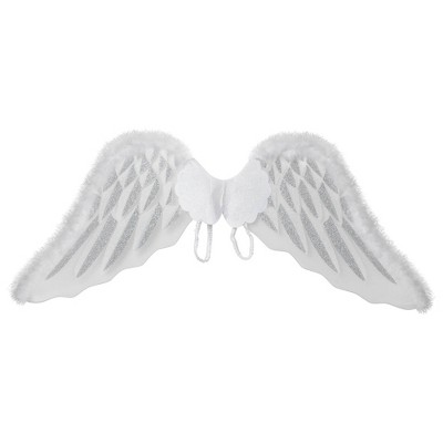 Adult White Angel Wings Accessory