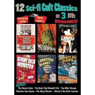 12 Sci-Fi Cult Classics (DVD)(2016)