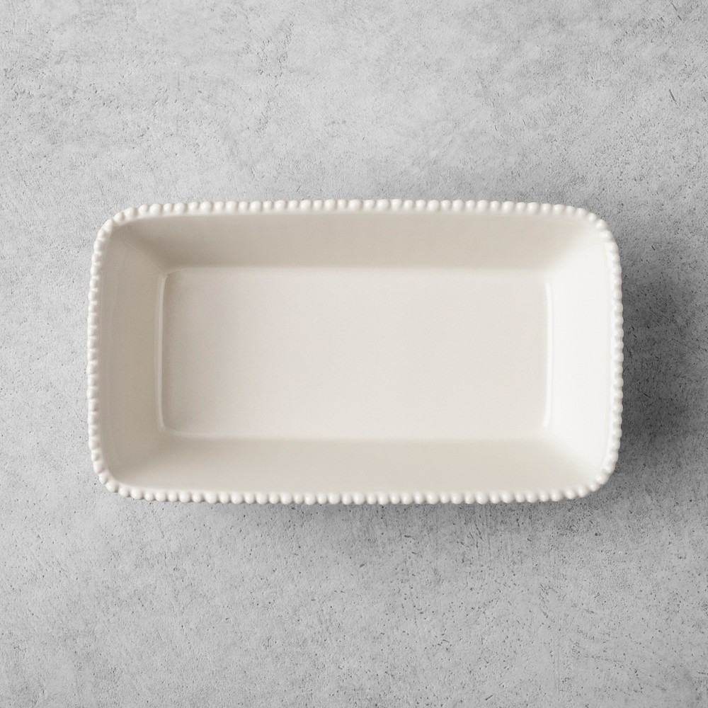 Stoneware Loaf Pan - Cream - Hearth & Hand with Magnolia