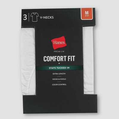 Hanes Premium 3pk Men's Comfort Fit V-Neck Undershirt