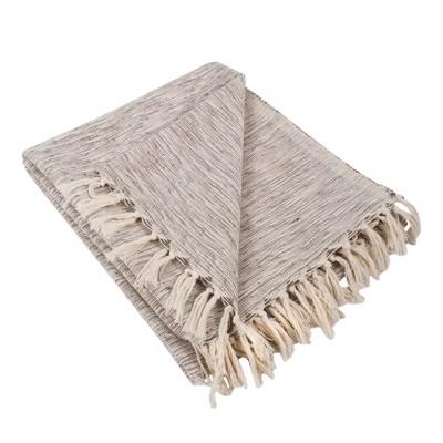 Variegated Throw Blanket Brown - Design Imports