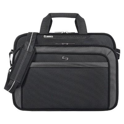 """Solo 17"""" Pro-Sterling Briefcase - Black/Gray"""