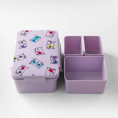 36oz Kids Cat Print Bento Box Purple - Cat & Jack™