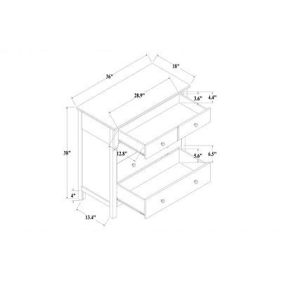 Shelburne Wood 4 Drawer Dresser Brown - Threshold™ : Target