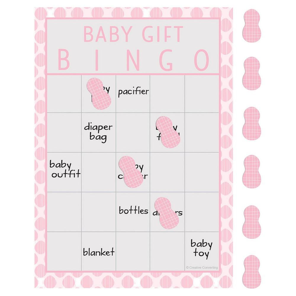 Image of 10ct Little Peanut Girl Elephant Baby Shower Bingo
