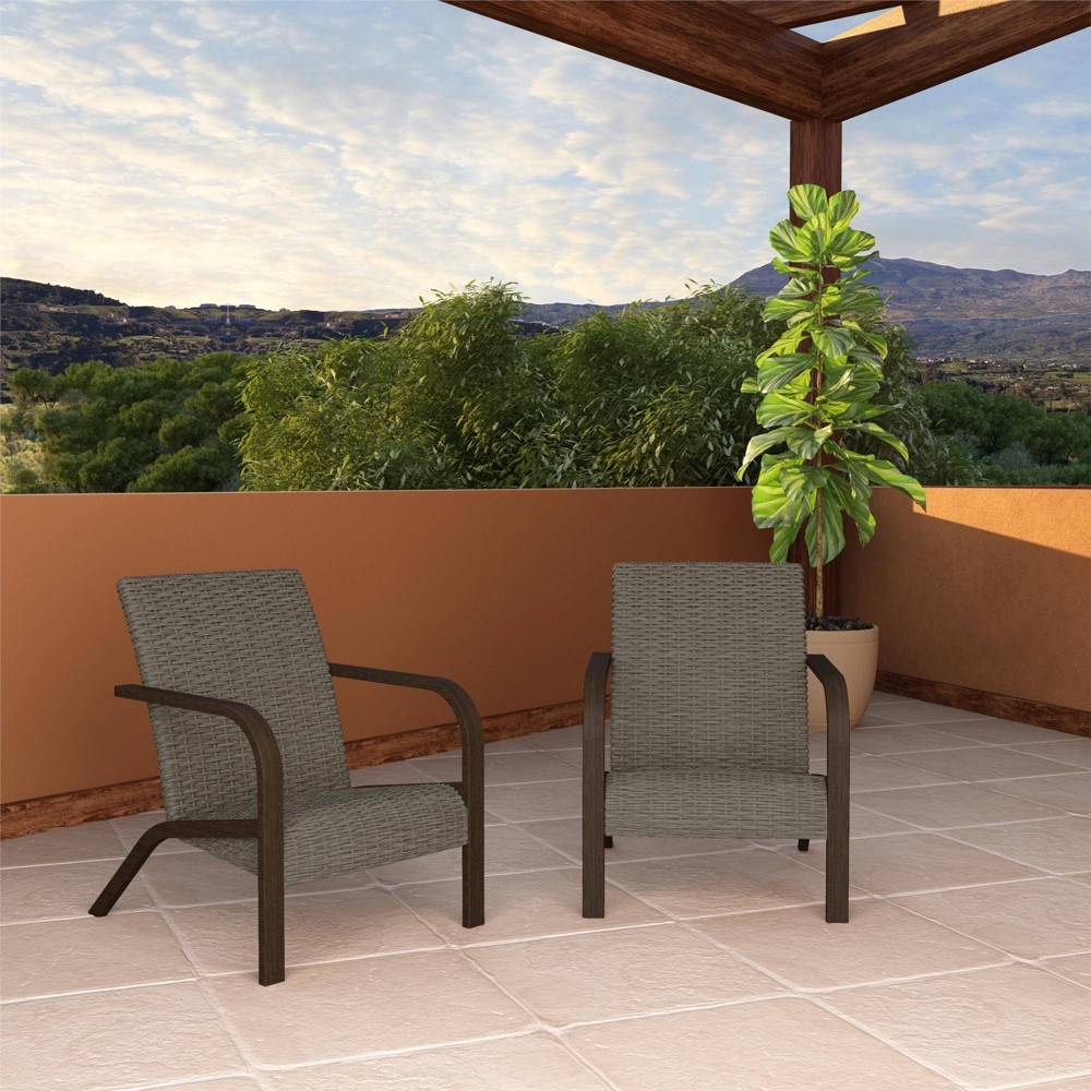2pk Smartdry Patio Lounge Chair Warm Gray Room 38 Joy