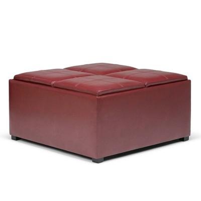 Franklin Square Coffee Table Storage Ottoman - WyndenHall
