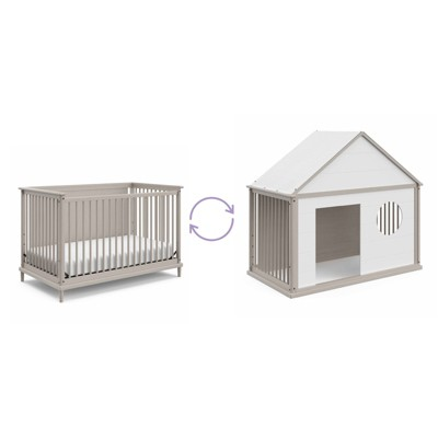 Motherly by Storkcraft Timeless 5-in-1 Convertible Crib with Bonus Playhouse