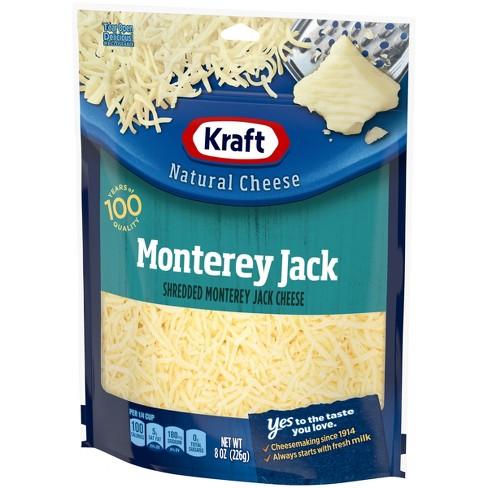 Kraft Natural Shredded Monterey Jack Cheese - 8oz