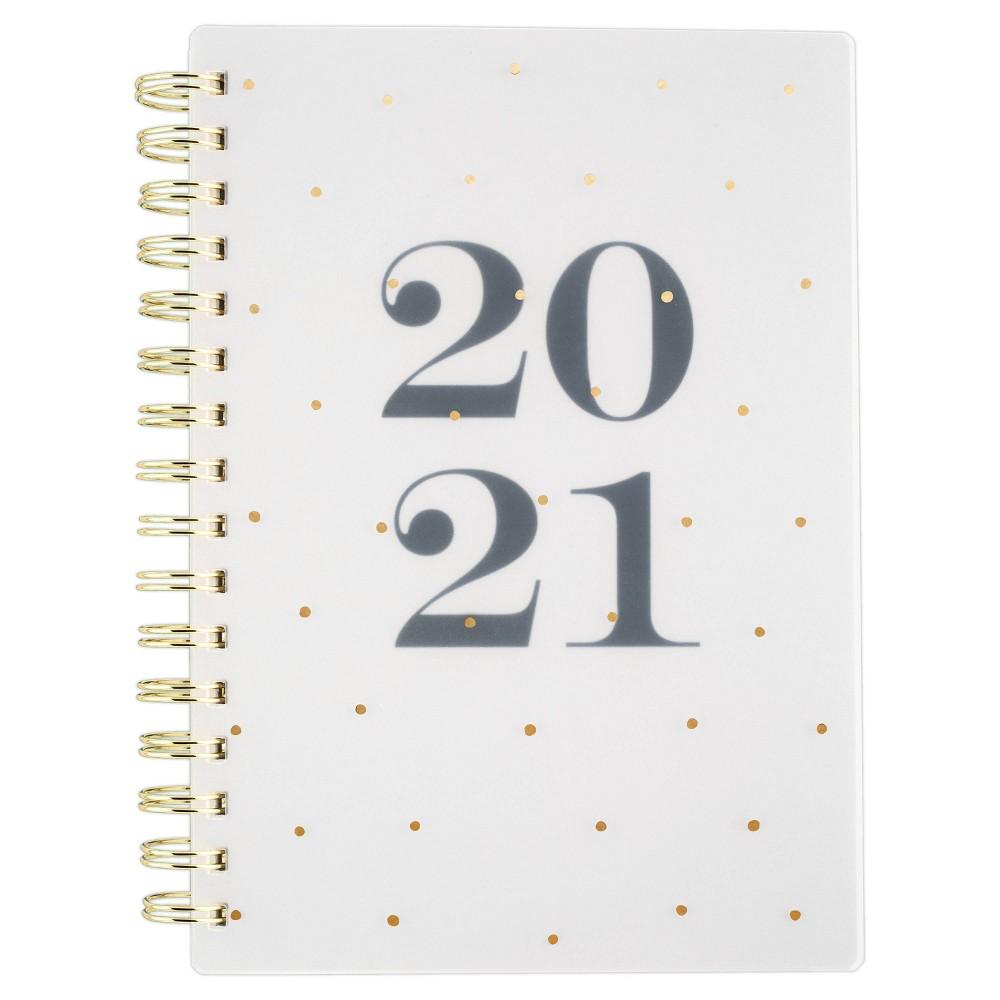 "Image of ""2020-21 Academic Planner 5.5"""" x 8.5"""" Black Gold Dots - Sugar Paper Essentials"""