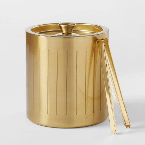 3L Stainless Steel Ice Bucket with Tongs Gold - Project 62™ - image 1 of 3