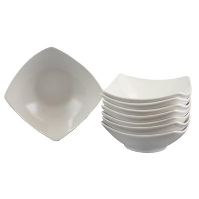 Gibson Home 24oz 8pk Ceramic Zen Buffetware Bowl Set