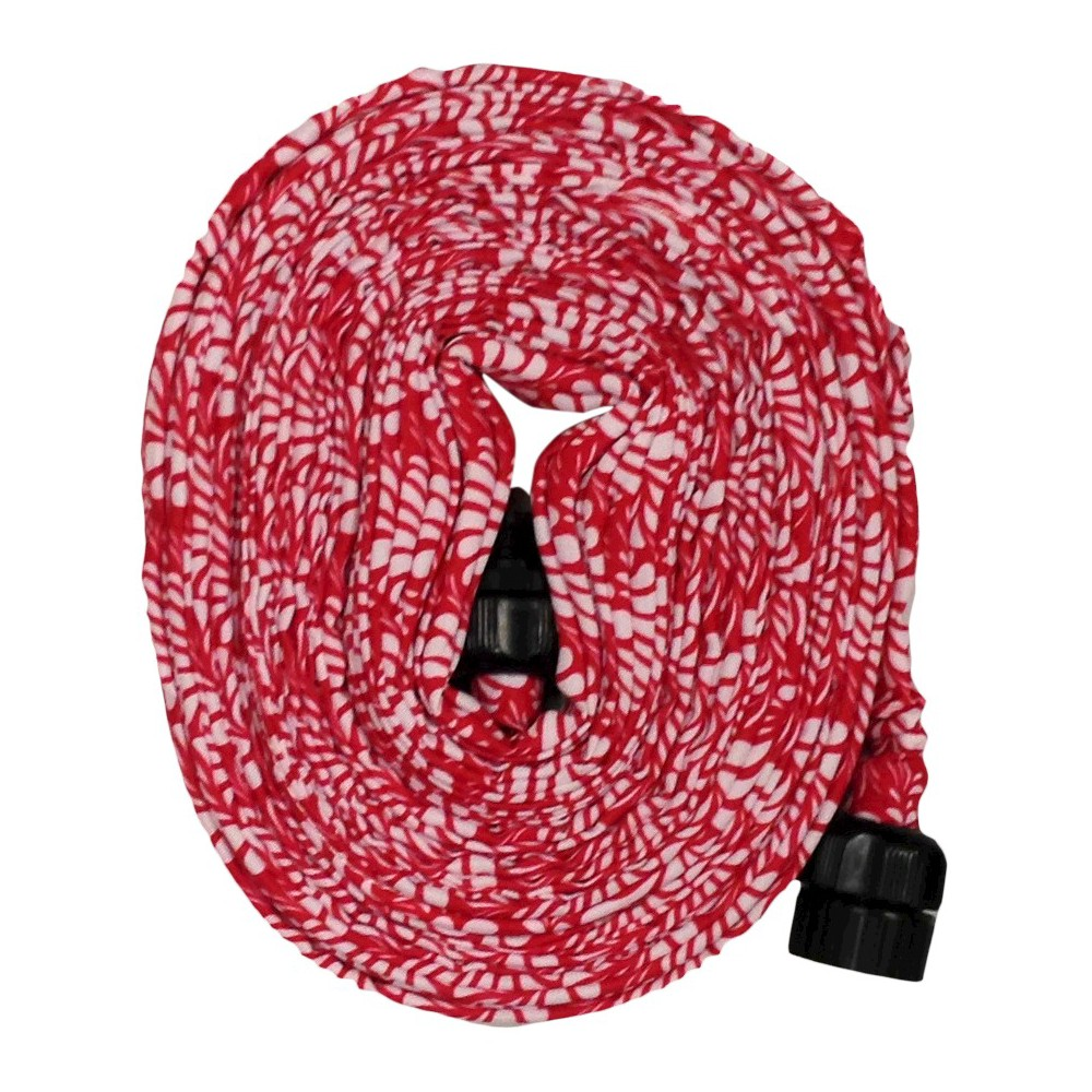 Image of 50' HydroHose Compact Garden Hose And Nozzle - Red Floral - Saint Tropez