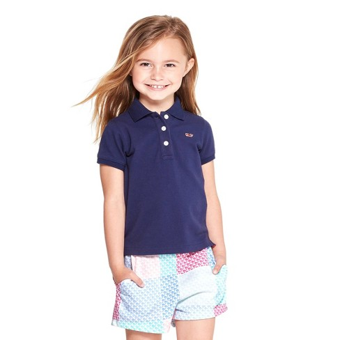 58a8dbee09 Toddler Girls' Short Sleeve Polo Shirt - Navy - Vineyard Vines® For Target  : Target