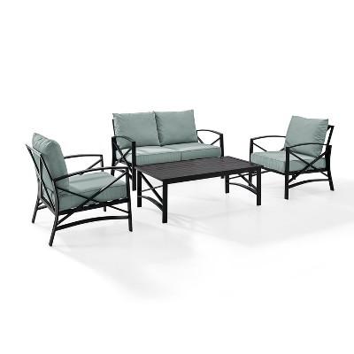 4pc Kaplan Outdoor Seating Set Mist - Crosley