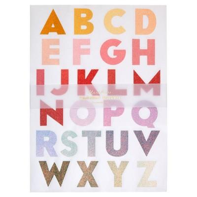 Meri Meri - Large Ombre Alphabet Sticker Sheets - Stickers - Christmas - 10ct
