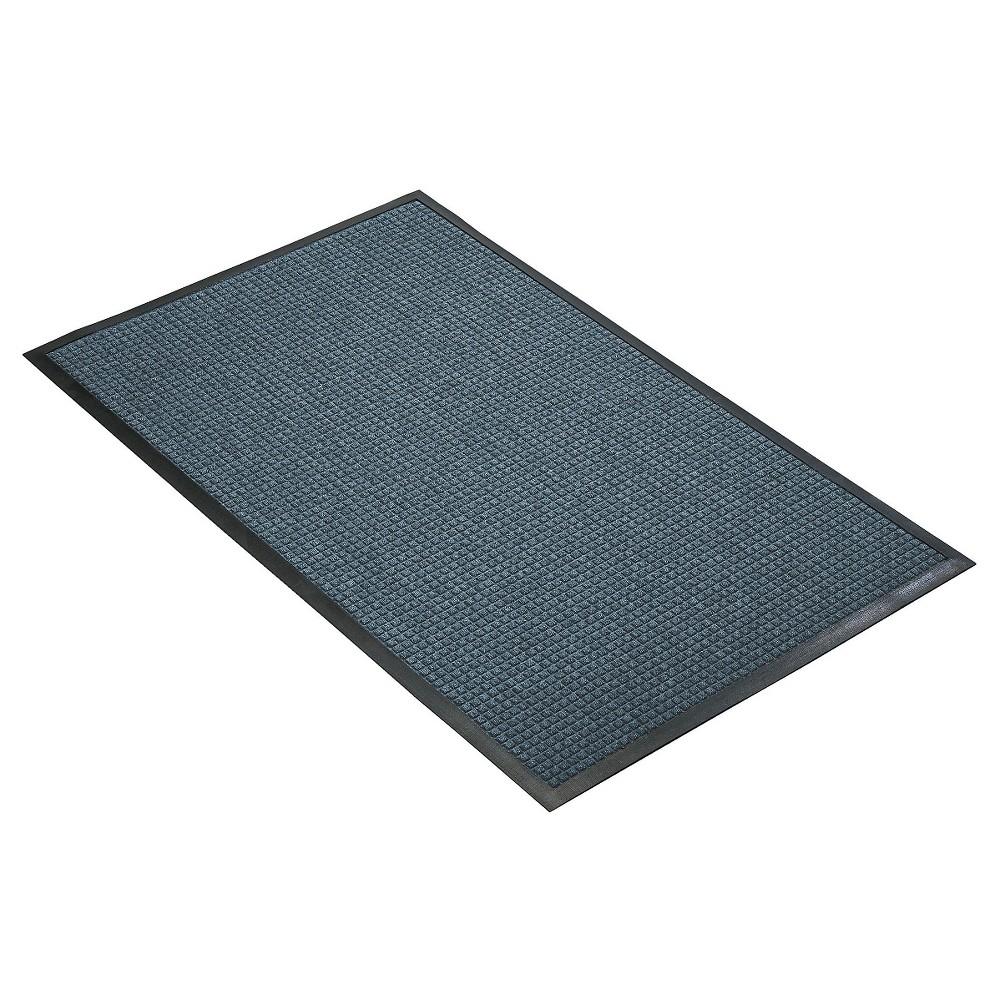 Slate Blue Solid Doormat 3 X4 Hometrax