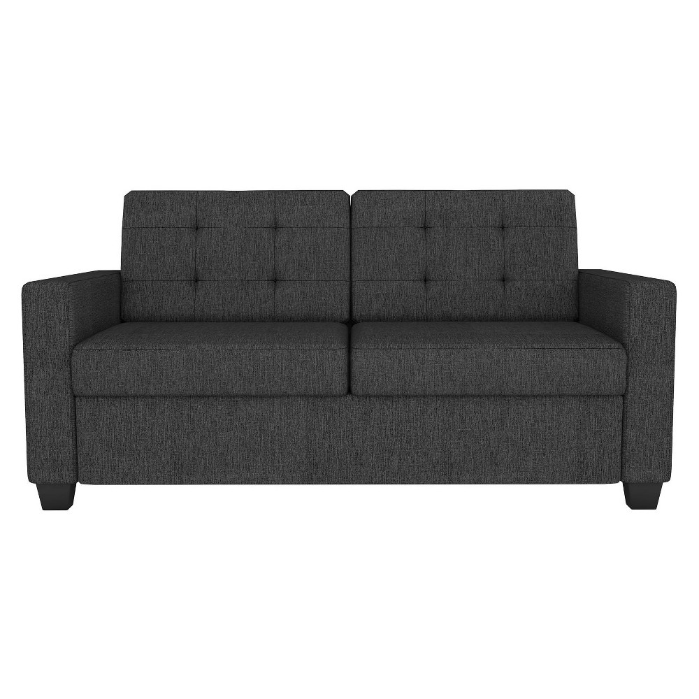 Image of Devon Gray Linen Sleeper Sofa with Certipur - Us Certified Memory - Full - Signature Sleep