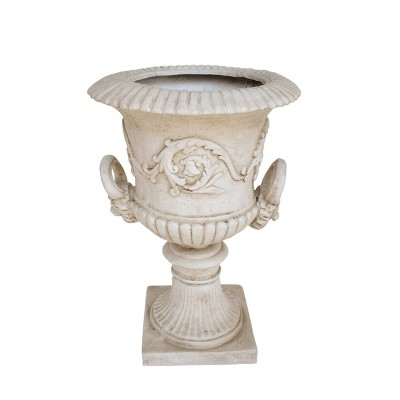 "28.25"" Adonis Lightweight Concrete Patio Urn Planter White - Christopher Knight Home"