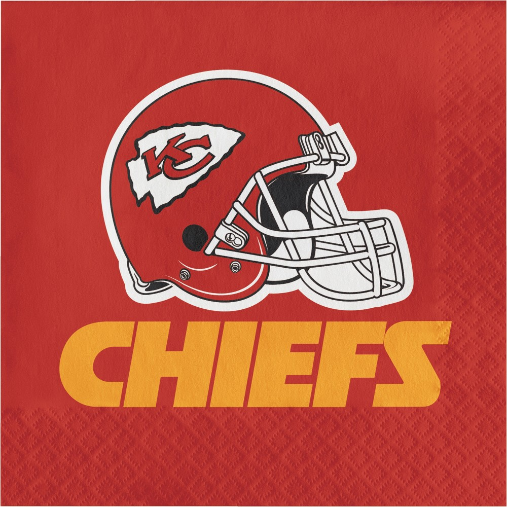 16ct Kansas City Chiefs Napkins, Multi-Colored