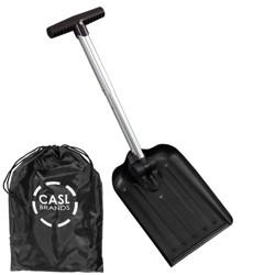 """Folding Snow Shovel with Bag - 8"""" Blade - Black - CASL Brands"""