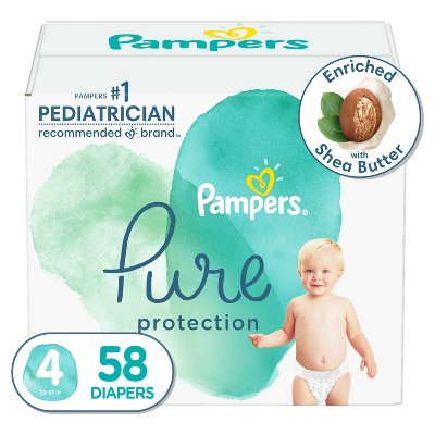 Pampers Pure Protection Diapers Super Pack - Size 4 - 58ct