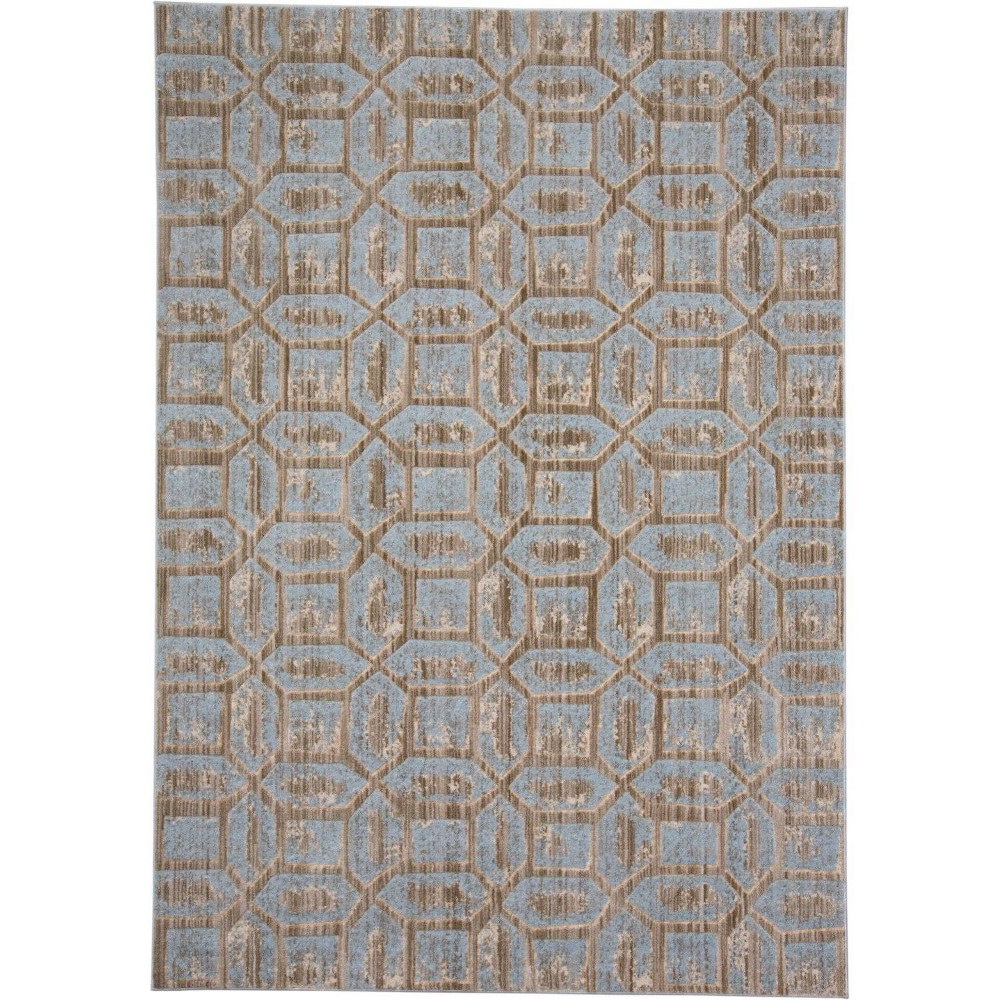 Image of 10'X14' Quatrefoil Design Loomed Area Rugs Ice - Weave & Wander