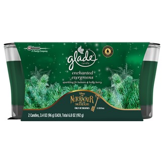 Glade Enchanted Evergreens Candle - 2ct - 6.8oz