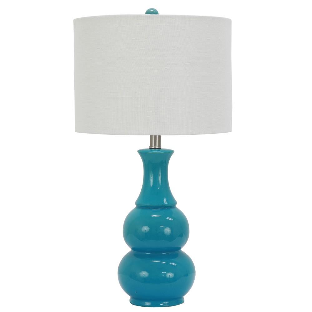 24 Harper Ceramic Desk Lamp Teal - Decor Therapy Coupons