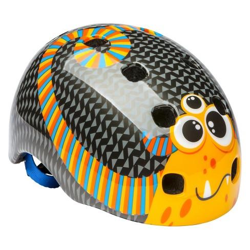 Schwinn Toddler Burst Monster Bike Helmet - Black/Orange - image 1 of 4