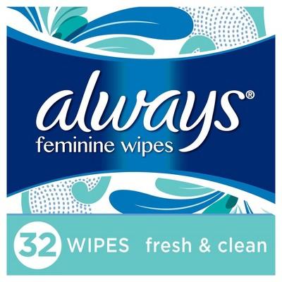 Always Feminine Wipes Fresh & Clean Soft Pack - 32ct
