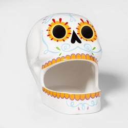 Da de Muertos Sugar Skull Ceramic Candy Bowl