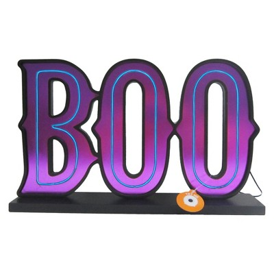 Halloween BOO Lit Tabletop Sign Purple - Hyde and Eek! Boutique™