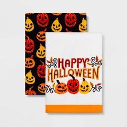 2pk Pumpkins Halloween Kitchen Towel - Hyde & EEK! Boutique™