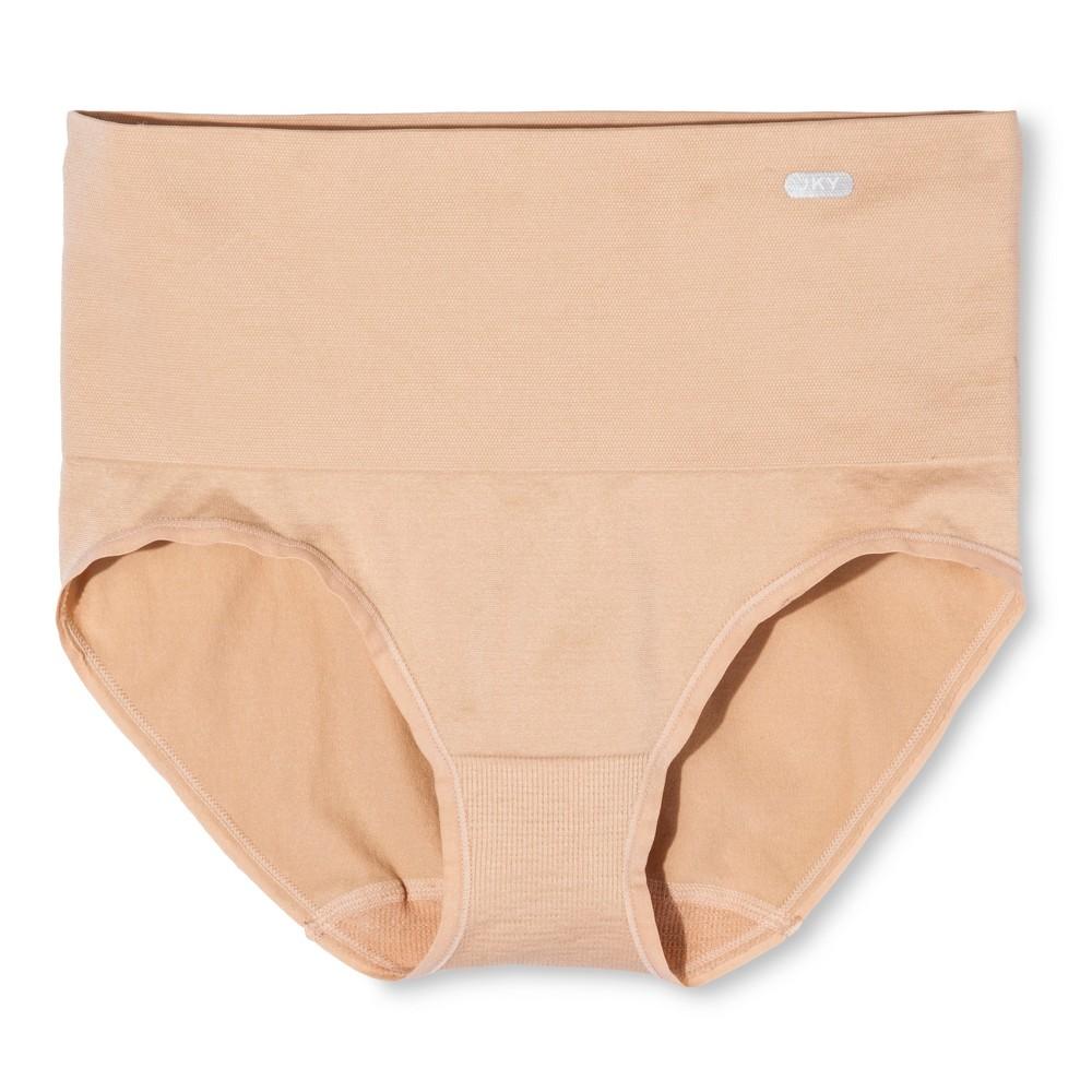 Jky by Jockey Women's High Waist Panties M Beige