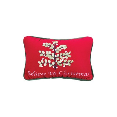 """C&F Home 6"""" x 9"""" Believe in Christmas Embroidered Petite Pillow"""