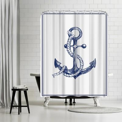 """Americanflat Anchor by Nuada 71"""" x 74"""" Shower Curtain"""