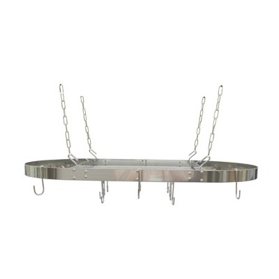 Range Kleen Oval Hanging Pot Rack - Stainless Steel