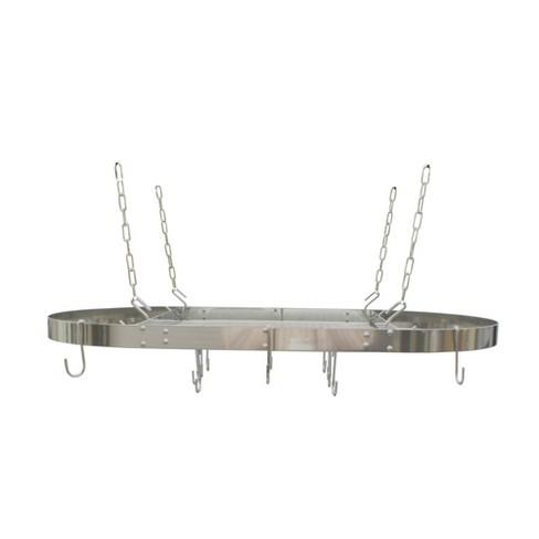 Range Kleen Oval Hanging Pot Rack - Stainless Steel - image 1 of 4