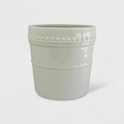 8  Reactive Glaze Nailhead Planter White - Smith & Hawken™