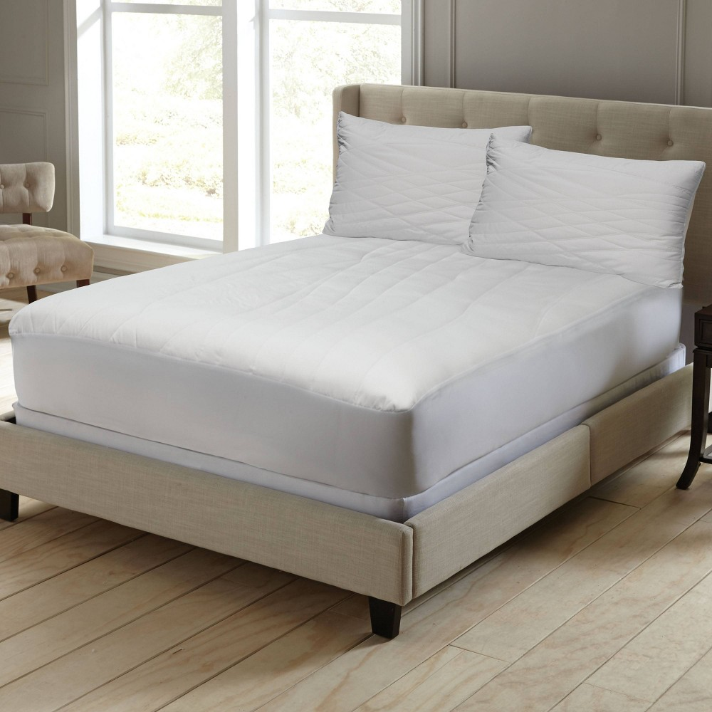 Image of California King Clean Cotton Mattress Pad White - Perfect Fit