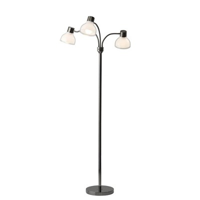 Presley 3 Arm Floor Lamp Off Black (Lamp Only)- Adesso