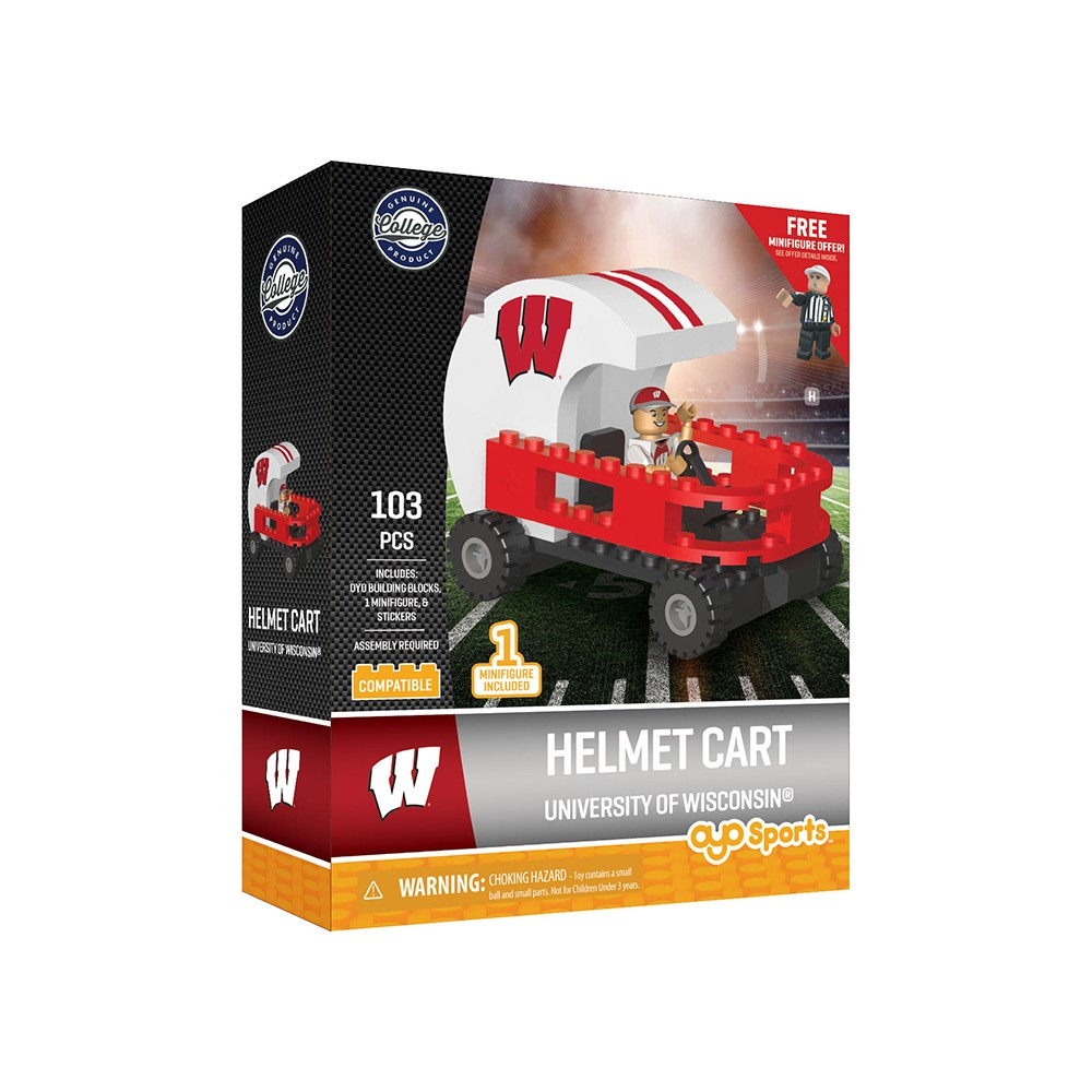 Wisconsin Badgers Oyo Helmet Car