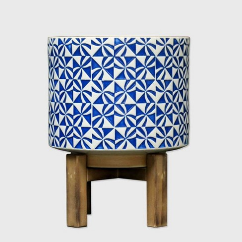 """10"""" Novelty Planter With Stand Opal Blue - Opalhouse™ - image 1 of 4"""