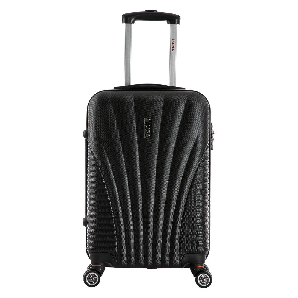 InUSA Chicago 21 Hardside Spinner Carry On Suitcase - Black