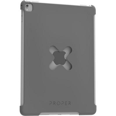 PROPER X Lock Case - For Apple iPad Air 2, iPad Pro (2017) iPad Air 2, iPad Pro (2017), Apple Pencil - Space Gray - Rubberized