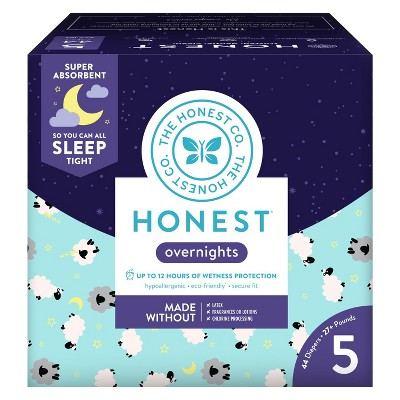 Honest Company Overnight Diapers Club Box Sheep - Size 5 (44ct)
