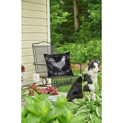 "C&F Home 18"" x 18"" Rustic Farm Rooster Indoor/Outdoor Pillow"