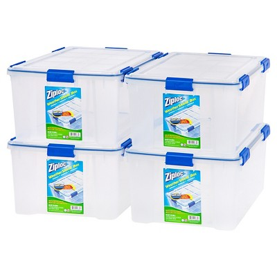 Ziploc 60qt Weather Shield Clear Storage Box - 4pk