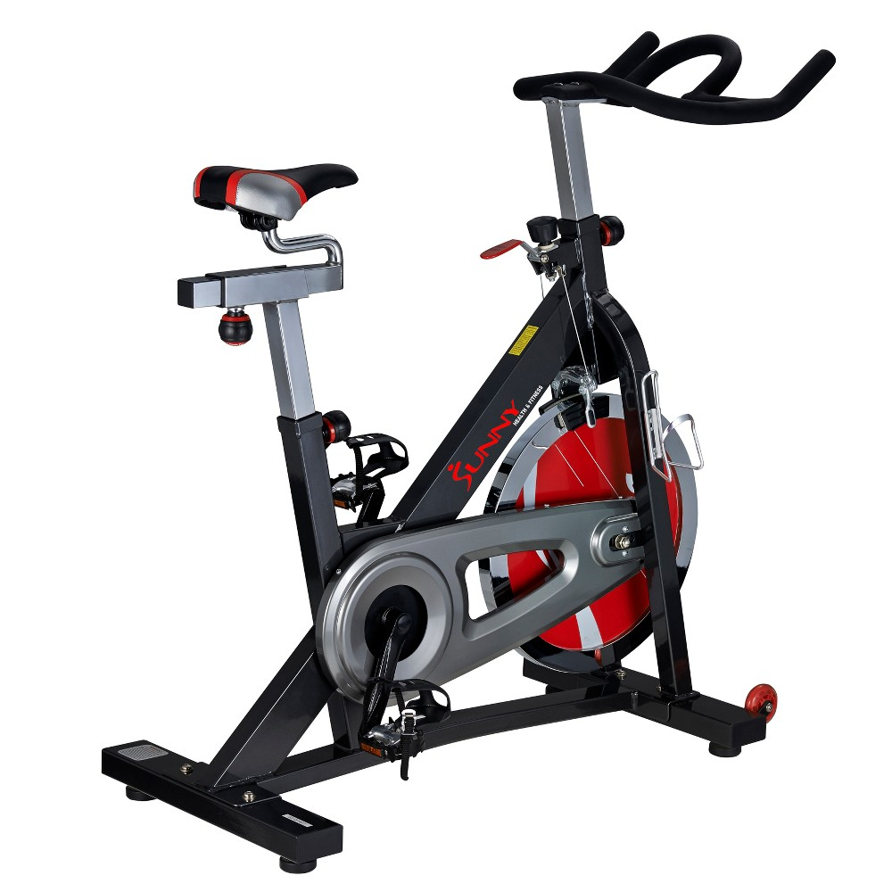 Sunny Health and Fitness (SF-B1401) Indoor Cycling Bike - Dark Gray